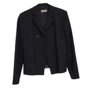 Emporio Armani Dark Green Double Breasted Blazer